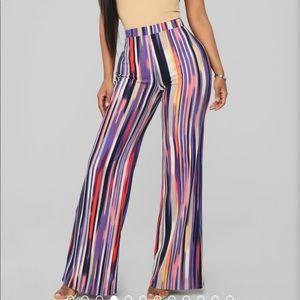 NWOT- Tropics Print Pants- Plus Size